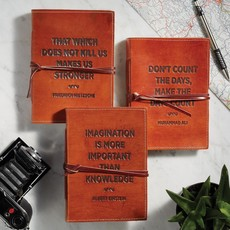 Two's Company Leather Notebook w/ Quote Assorted
