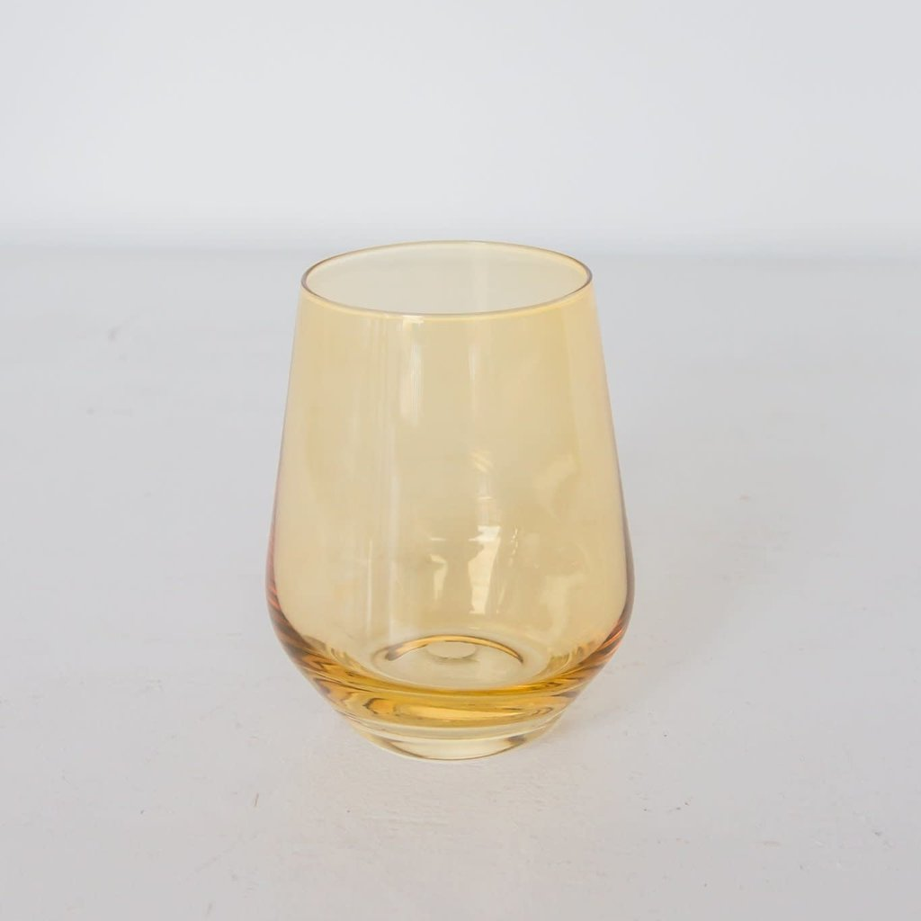 Estelle Colored Glass Estelle Colored Stemless Wine Glass