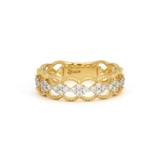Jude Frances Pointed Open Cluster Diamond Band