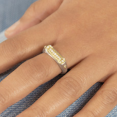 Jude Frances Mixed Metal Woven Rope Chain Ring