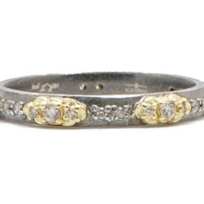 Armenta Gold Mini Scroll Stack Ring