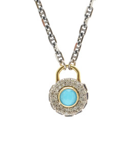 Armenta Turquoise Shield Necklace