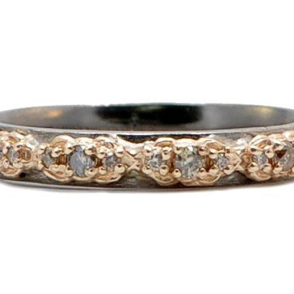 Armenta Rose Gold Mini Scroll Stack Ring