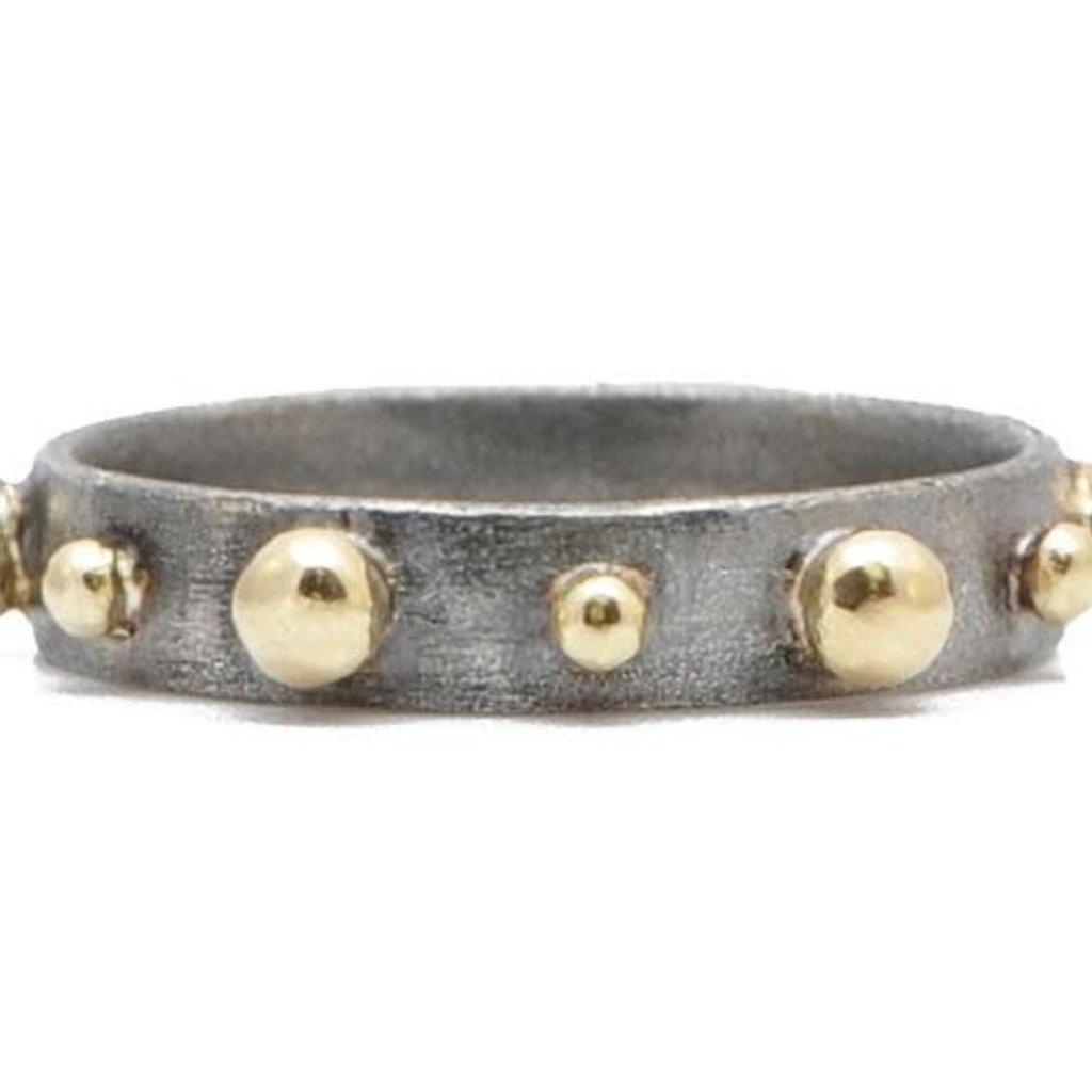 Armenta Granulation Stack Band Ring