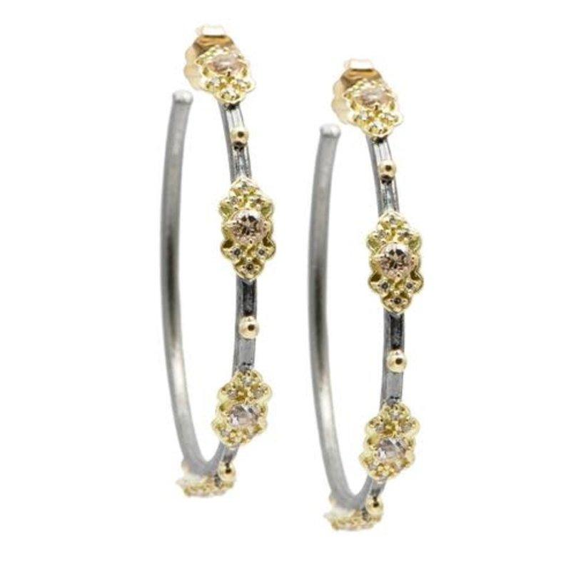 Armenta Gold Scroll Hoop Earrings