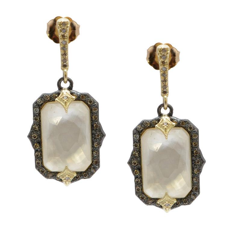 Armenta Emerald Cut Mother of Pearl Drop Earrings
