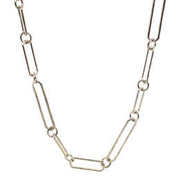 Armenta Sterling Silver Paperclip Necklace