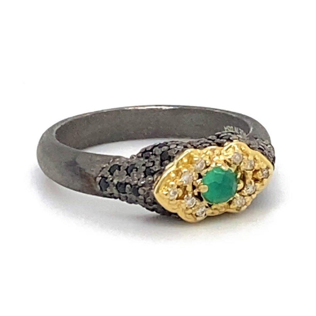 Armenta Green Onyx Pinky Ring