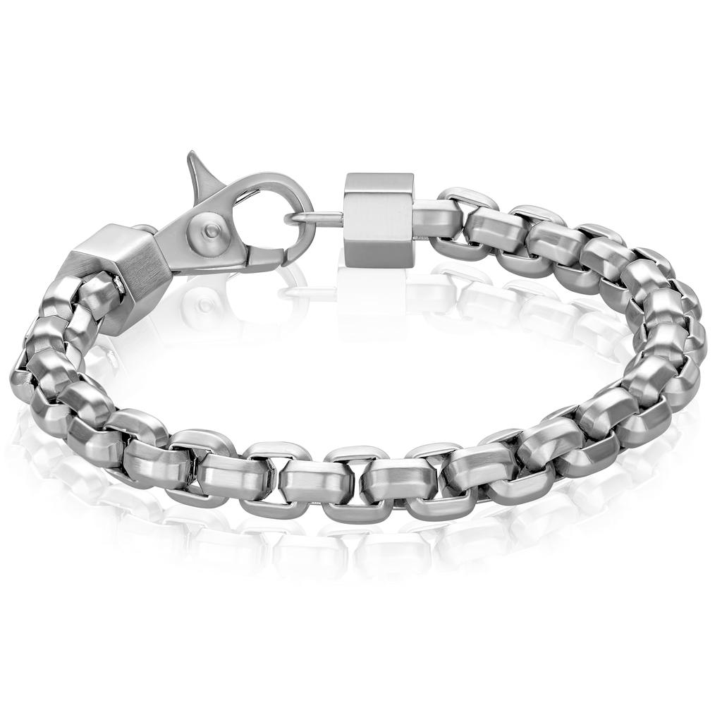 Italgem Matte Steel Box Link Bracelet