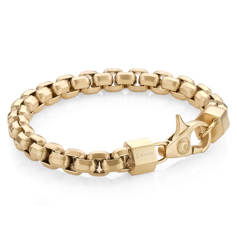 Italgem Matte Gold Square Box Bracelet