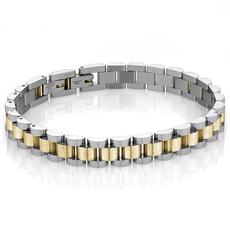 Italgem Gold And Silver Link Bracelet