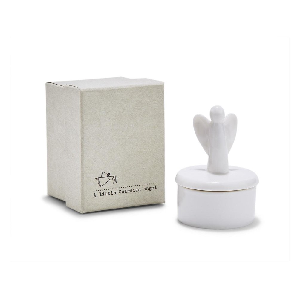 Two's Company Guardian Angel Trinket Box