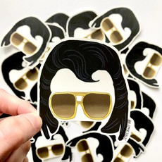 Debbie Draws Funny The King Elvis Vinyl Sticker