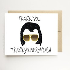 """Debbie Draws Funny Elvis """"Thank You Very Much"""" Thank You Card"""