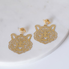The Royal Standard Gold Tiger Earrings