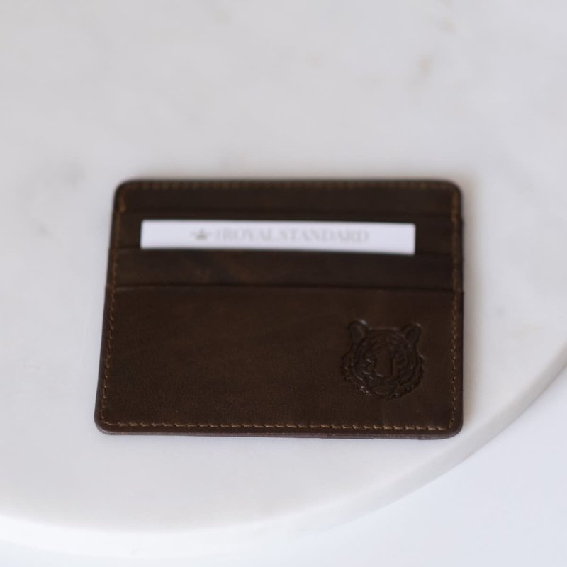 The Royal Standard Leather Tiger Embossed Card Wallet