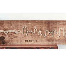 Grainwell Memphis Skyline Large Wood City Scape