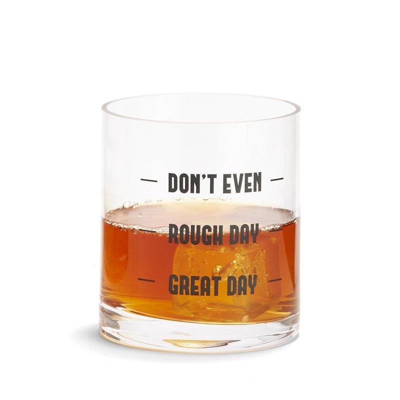 """Two's Company """"Don't Even"""" Double Old Fashioned Glass"""