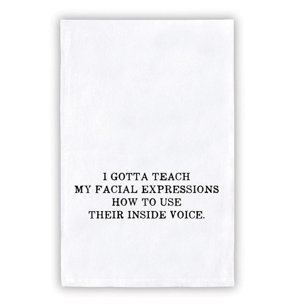 Santa Barbara Design Studio Facial Expressions Tea Towel