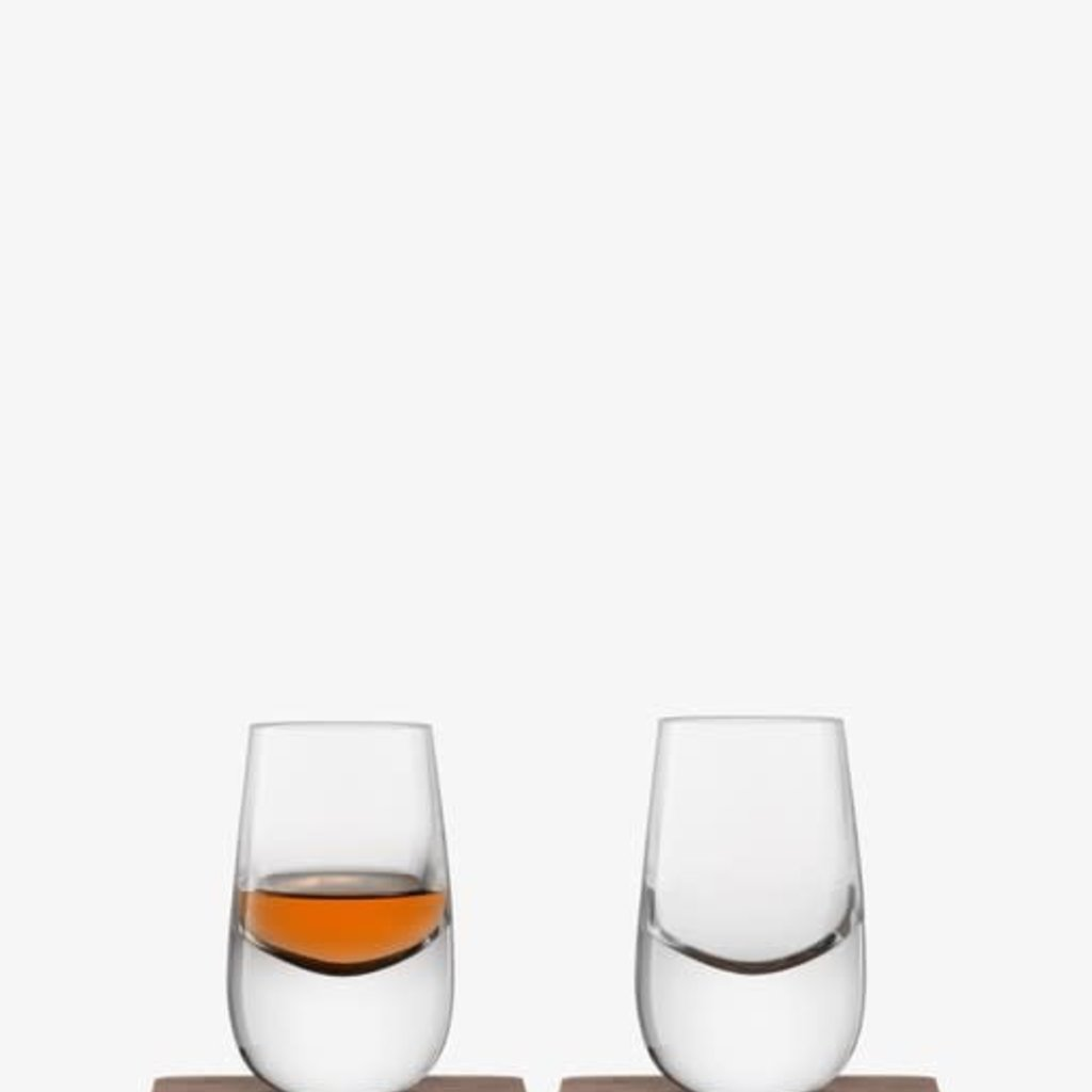 LSA International Whiskey Shot Glass & Coast Set of 2