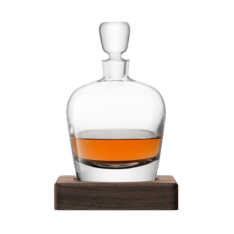 LSA International Whiskey Arran Decanter & Walnut Base