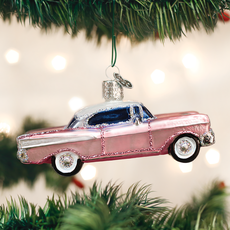 Old World Christmas Classic Pink Car Ornament