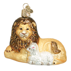 Old World Christmas Lion And Lamb Ornament