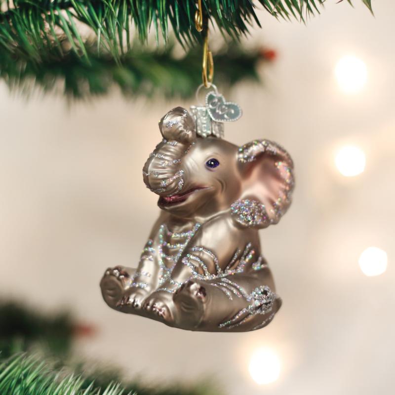 Old World Christmas Little Elephant Ornament