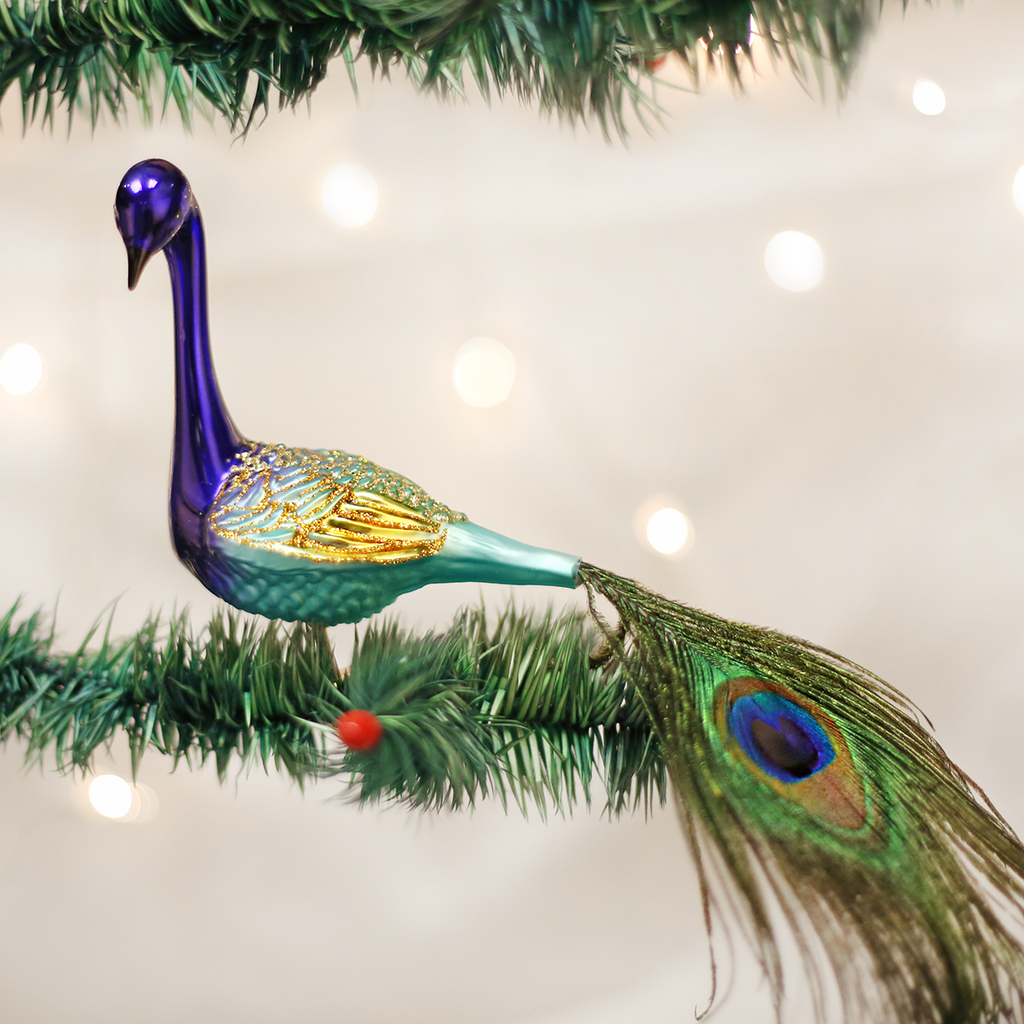 Old World Christmas Magnificent Peacock Ornament