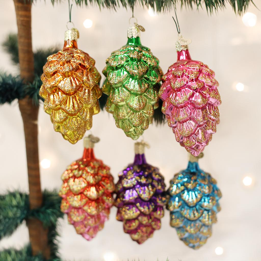 Old World Christmas Ponderosa Pine Cone Assorted Ornament