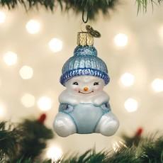 Old World Christmas Snow Baby Boy Ornament