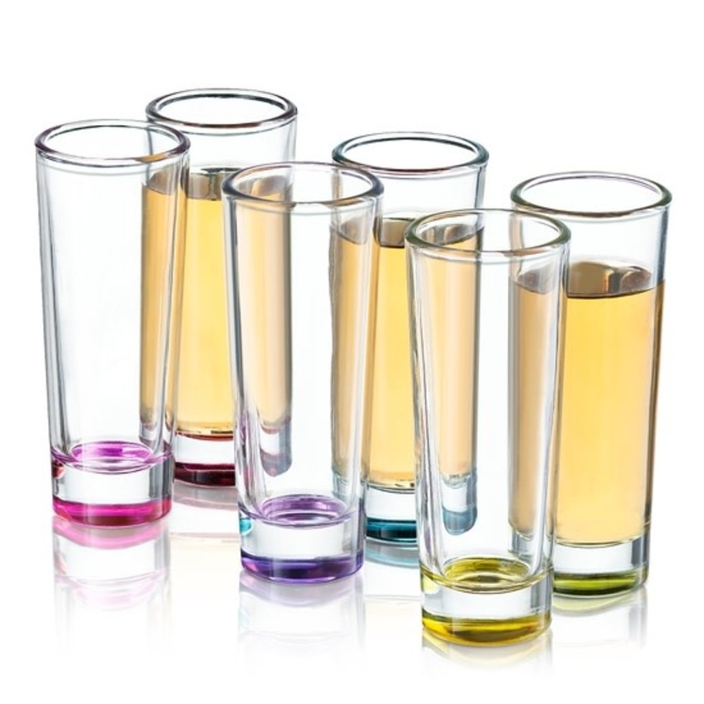 JoyJolt Colored Shot Glass Set