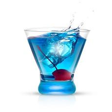 JoyJolt Colored Martini Glass Set