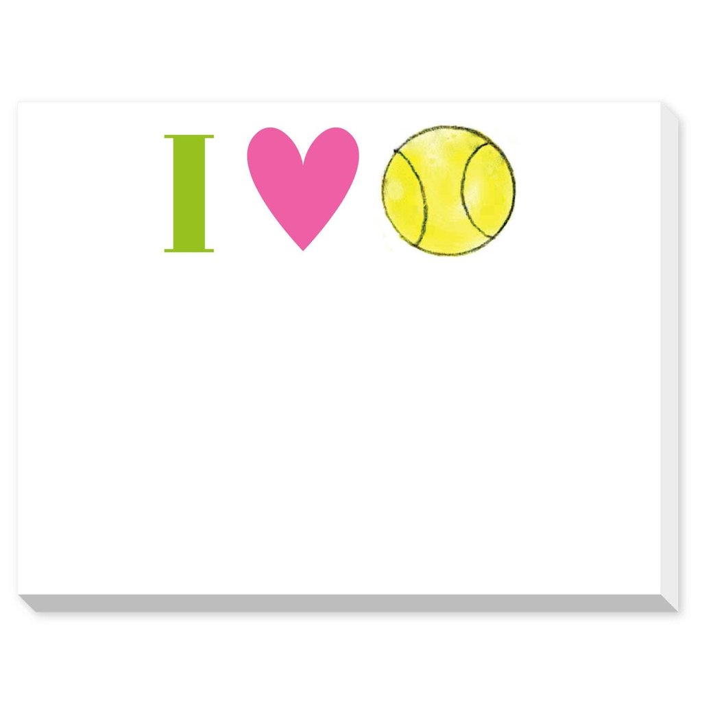 Donovan Designs I Love Tennis Dittie Notepad