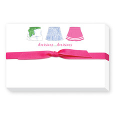 Donovan Designs Tennis Skirts Pudgy Notepad
