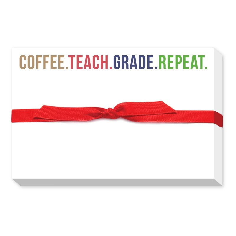 Donovan Designs Coffee, Teach, Grade  Pudgy Notepad