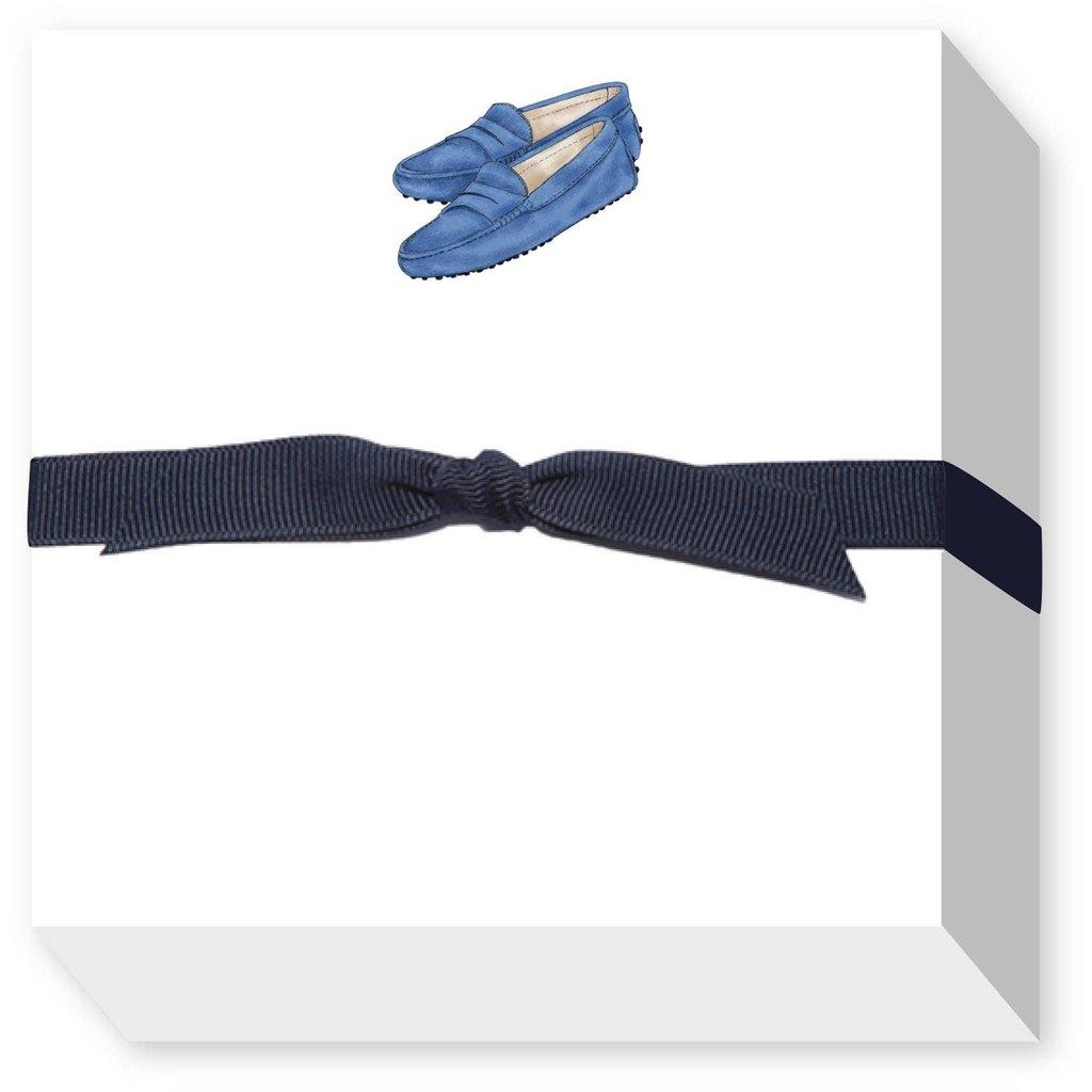 Donovan Designs Blue Moccasin Chubbie Notepad