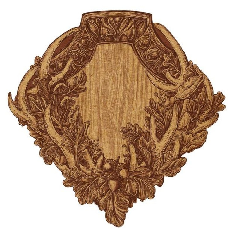 Hester & Cook Die Cut Oak & Antler Crest Placemat