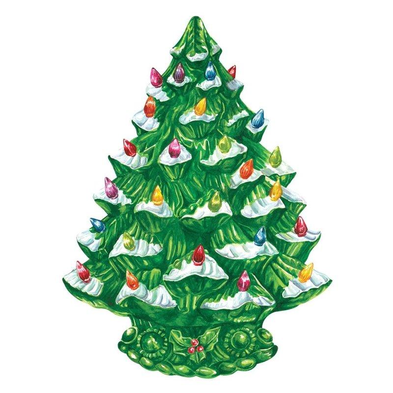 Hester & Cook Die Cut Vintage Christmas Tree Placemat
