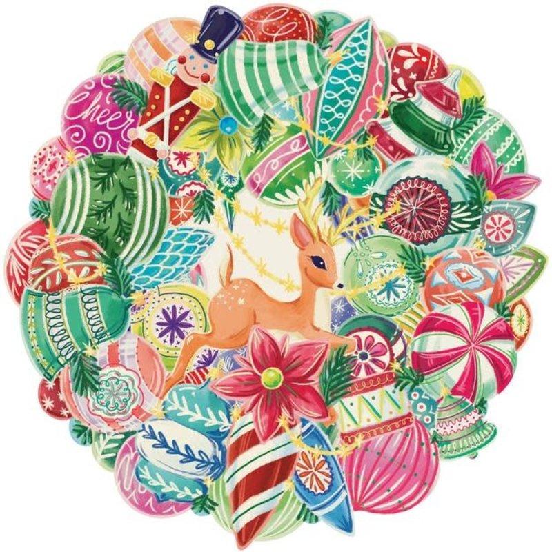 Hester & Cook Die Cut Yuletide Treasure Wreath Placemat
