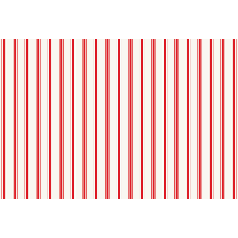Hester & Cook Red Ribbon Stripe Placemat