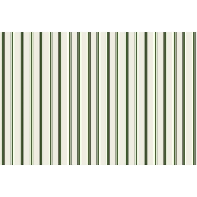 Hester & Cook Green Ribbon Stripe Placemat