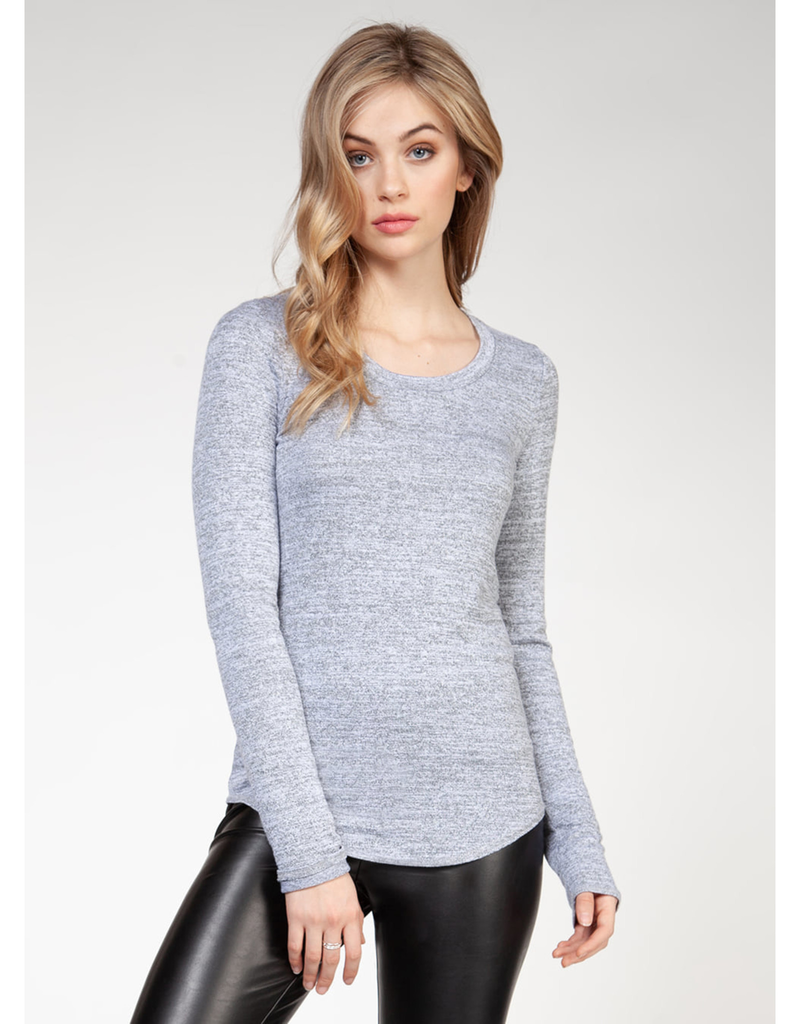 CHANDAIL MANCHE LONGUIE BASIC GRIS