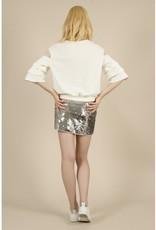 Molly Bracken Knit Ruffle Sleeve Top