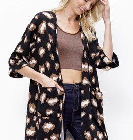 Mittoshop Animal Print Sweater Knit Kimono