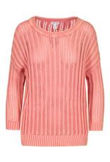 Tribal Peach Tulip Open Weave Sweater