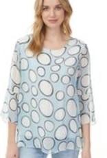 Big Circle Printed Silk Blouse