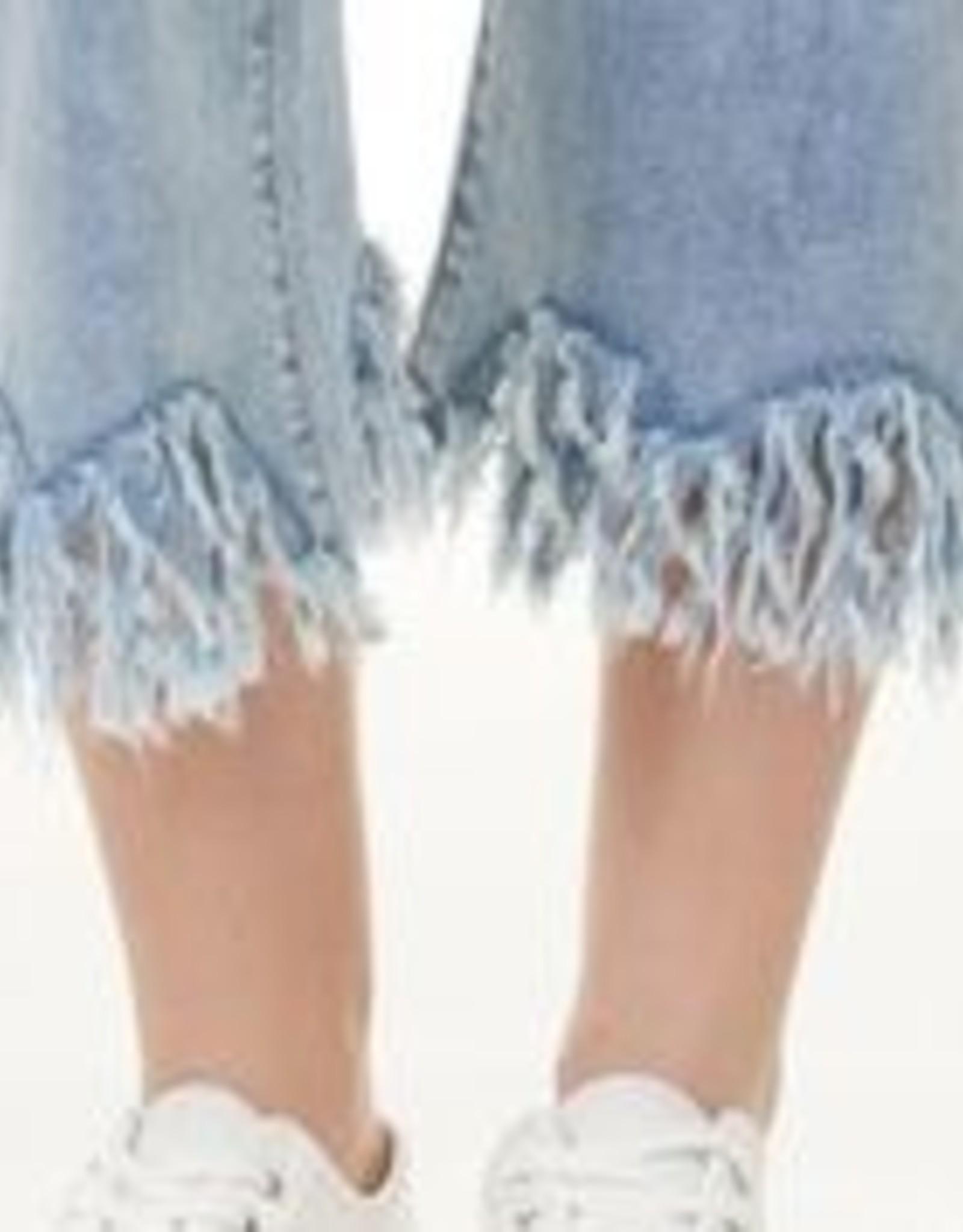 Charlie B Blue Jeans W/ Frayed Hem