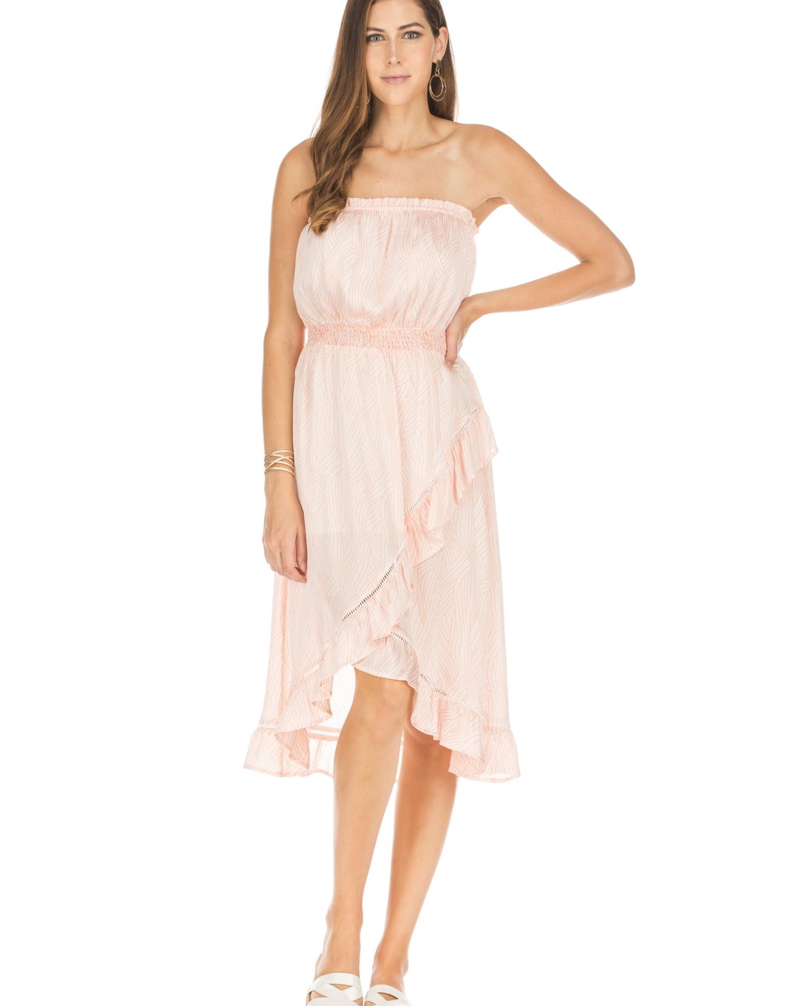Jade Peachy Wave Strapless High Low Dress
