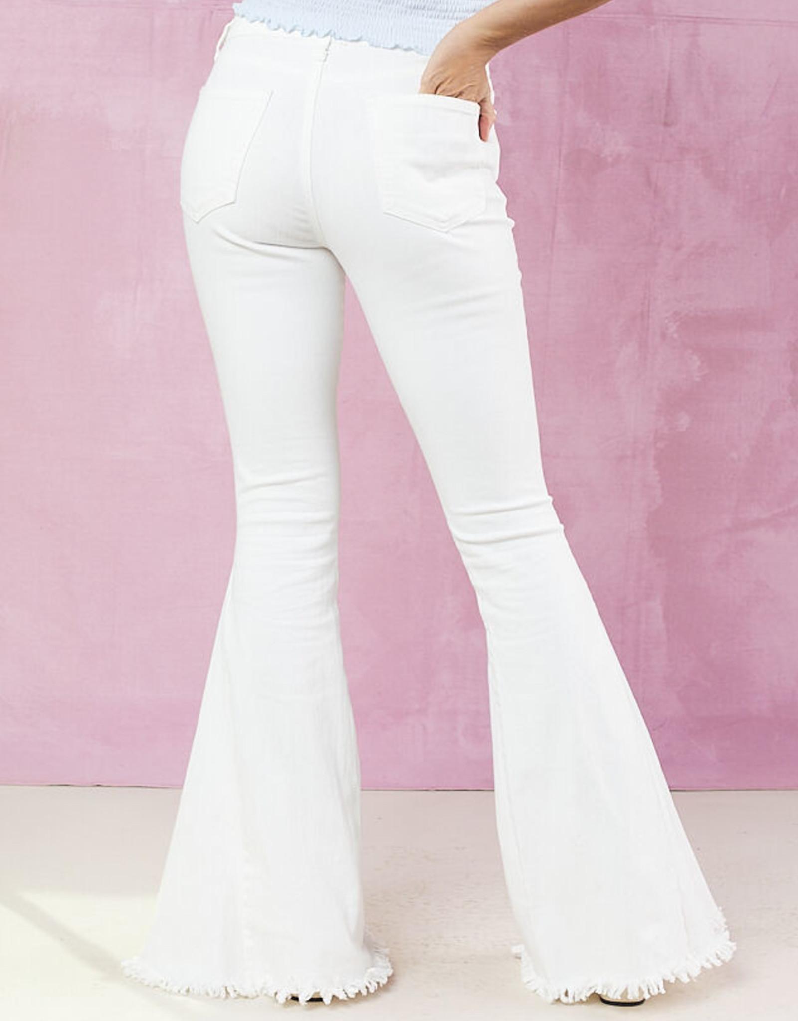 Just Black Denim White Classic Bell Bottom Jean